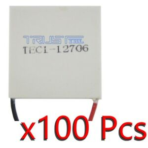 100 Tec1 12706 12v Heatsink Thermoelectric Cooler Cooling Peltier Plate Module