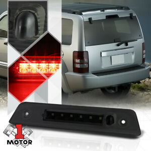 Black Smoke Led Third 3rd Brake Light W Washer Nozzle For 08 12 Jeep Liberty