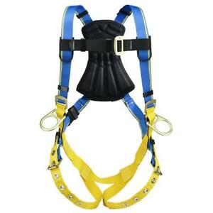 Safety Harness Vest Tongue Buckle Legs Straps Fall Protective Gear Jobsite Xxl