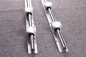 2set Fully Supported Linear Rail Shaft Rod Sbr25 1500 Slide Guide For Cnc