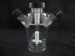 Wheaton Celstir 250ml Glass A Spinner Flask Double Sidearms Complete Assembly