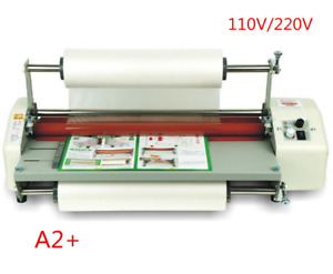 17 5 A2 Roll Laminator Four Roller Hot Cold Laminating Machine For 442mm Paperm