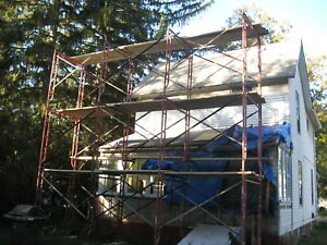 Masonry Scaffold 2 Side Supports With 2 Cross Braces Plus 2 Outriggers