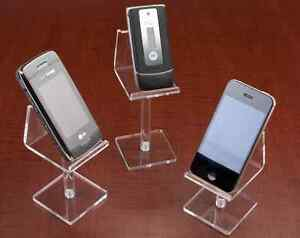 15 Acrylic Cell Phone Risers 3 Hights clear