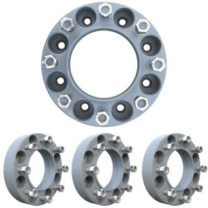 Prowler 2 Inch 8 Lug Skid Steer Wheel Spacers 5 8th Inch Studs 6 Hub Diameter