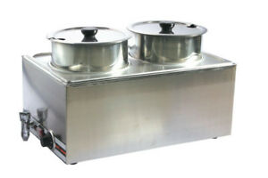 Commercial 2 Pan Chili And Cheese Warmer Food Warmer Restaurant Equipment 110v