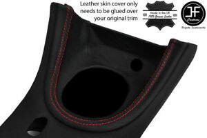 Red Stitch Manual Shift Bezel Surround Leather Cover For Ford Mustang 1999 04