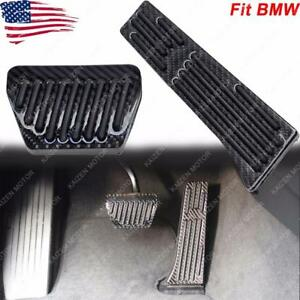 Carbon Fiber Brake Gas Padals Pad Cover Trim For Bmw At 3 4 5 7 Series X3 X5 X6