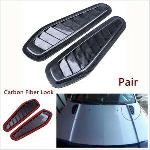 2x Car Decorative Air Flow Intake Scoop Turbo Bonnet Vent Cover Hood Car Styling Fits 2005 Ford Mustang
