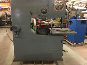 Doall Model 3613 20 Vertical Band Saw 36 Throat