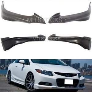 Fit For 2012 2013 Civic 2dr Coupe Hfp Style Front Bumper Lip Splitter Spoiler Pu