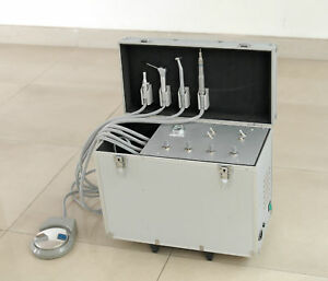Dental Delivery Unit With Air Compressor Suction System Triplex Syringe 2h