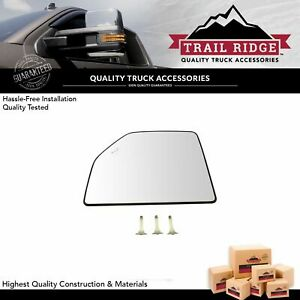 Towing Mirror Glass Heated Blind Spot Upper Driver Left Lh For Ford F150 Pickup