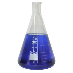 Tn Lab 5000 Ml Glass Borosilicate Conical Flask Ships Free From Usa