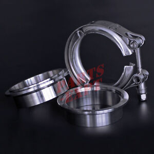 2 75 Inch Stainless Steel V Band Vband Clamp Flange Turbo Exhaust Down Pipe
