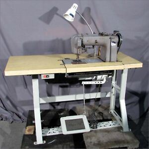 Singer 300w104 1 needle walking Foot chainstitch Sewing Machine On Table