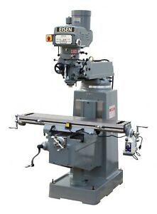 Eisen S 3aii Milling Machine Boxways 10x50 3hp R8 Free Dro Free Powerfeed