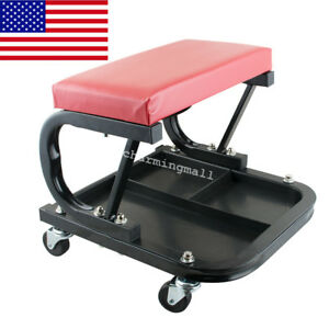 Newest Auto Repair Roller Seat Padded Mechanics Roller Creeper Workshop Bench