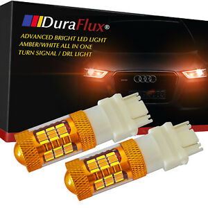 Duraflux 3157 4157na Led Switchback Turn Signal Drl Light Yellow White Projector