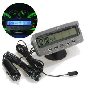 Digital Lcd Auto Car In Out Temperature Thermometer Alarm Clock Ts 7045v