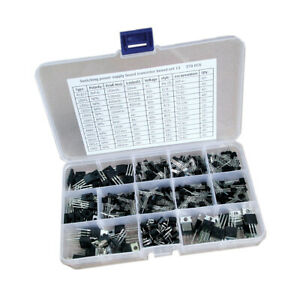 12 Values 370pcs Power Transistors Assortment Assorted Kit With Plastic Box