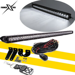 40 Inch Bumper Led Light Bar W wiring Kit For Ford F250 F350 Ram 2500 3500 4wd