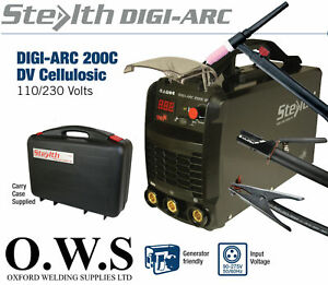 Swp Stealth Digi arc 200c 200amp Dual Voltage 110v 240v Inverter Mma Scratch Tig