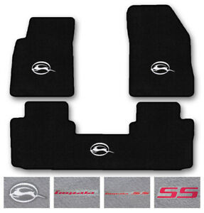 3pc Carpet Floor Mat Set For 2014 2019 Chevrolet Impala Choose Logo
