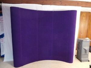 Expand 8 Pop up Display With Fabric Panels Pre owned