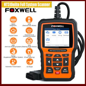 2020 Foxwell Nt510 Elite For Bmw Mini Diagnostic Scanner Tool Abs Srs Tpms Reset