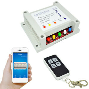 Dc5 28v Wireless Switch Relay Module 4 channel Phone App Remote Control 7