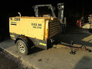 Atlas Copco Xas 96 185 Cfm Air Compressor Runs Exc Video John Deere Diesel