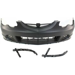 Front Bumper Cover Kit For 2002 2004 Acura Rsx W Bumper Bracket Primed Plastic