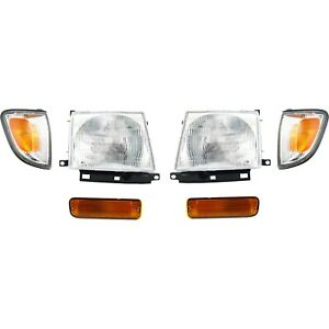 Headlight Kit For 1998 2000 Toyota Tacoma Left And Right Rwd 2wd 6pc