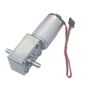 Dc12v 24v 5840 555s Turbo Worm Speed Reduction Gear Motor Code Disk With Encoder