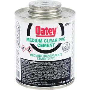 3 Pk Oatey 1pt Medium bodied Clear Pvc Pipe Fitting Cement 31019