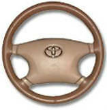 Sand Beige Custom Fit Genuine Leather Steering Wheel Cover Wheelskins Size Axx