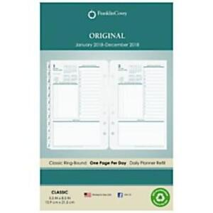 Franklin Covey 36229 Monticello Dated Two page per day Planner Refill 5 1 2 X 8