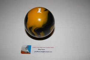 Yellow Marble 1 Pool Ball Shift Knob Rat Rod Shift Knob T Bucket Shift Knob