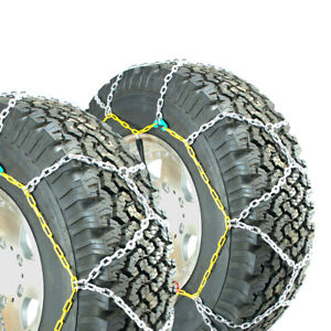 Titan Diamond Alloy Square Tire Chains On Road Snow Ice 3 7mm 30x9 50 15