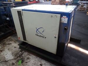 Quincy Qsb 15 15 Hp Rotary Screw Air Compressor 1yr Airend Warranty