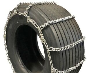Titan Truck Tire Chains V Bar Cam Type On Road Ice Snow 7mm 37x12 50 17