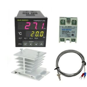 Ac 100 220v Itc 100vh Outlet Digital Pid Thermostat Temperature Controller Usa
