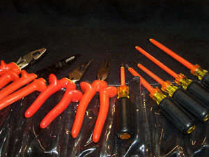 Cementex Basic Electricians 1000v Insulated 9pc Roll Tool Kit Pliers 1412