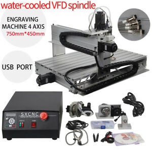 4axis 1500w Vfd Engraving Cnc Router Engraver Wood Metalworking Milling Usb 6040