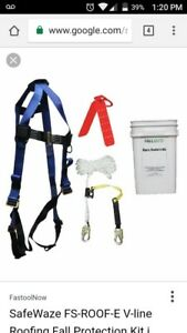 Safewaze Fs roof e Roofing Kit In A Bucket Roofing Harness And Kit