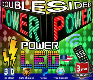 3 Color Double sided Led Sign 22 x117 Rgy Programmable Scrolling Message Board