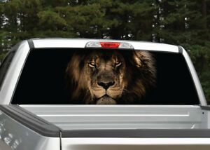 Lion Head Rear Window Decal Graphic For Truck Suv 4 Sizes