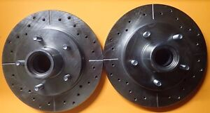 5547 Performance Brake Rotor Drilled Slotted Zinc Coated Front Pair For S10