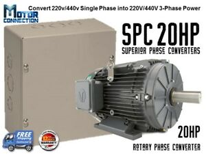 Rotary Phase Converter 20 Hp Create 3 Phase Power From Single Phase Supply